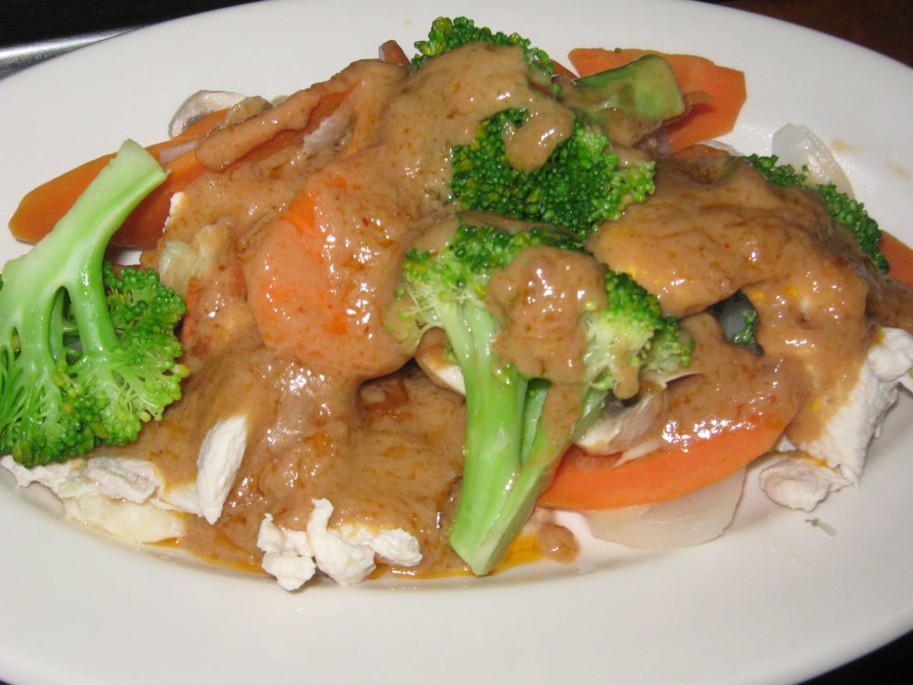 chicken peanut sauce