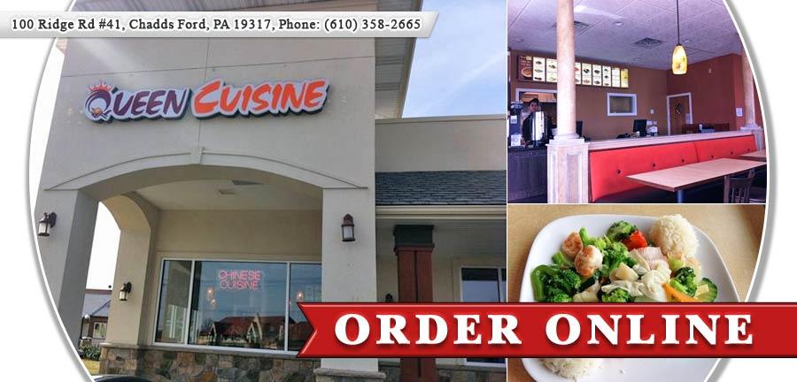 Queen cuisine chinese restaurant order online chadds for Cuisine queen